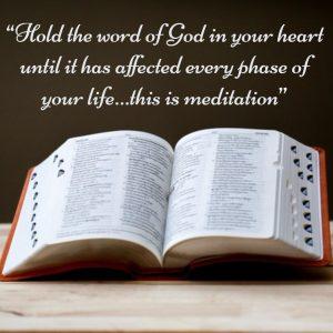 Hold the Word of God – Meditation